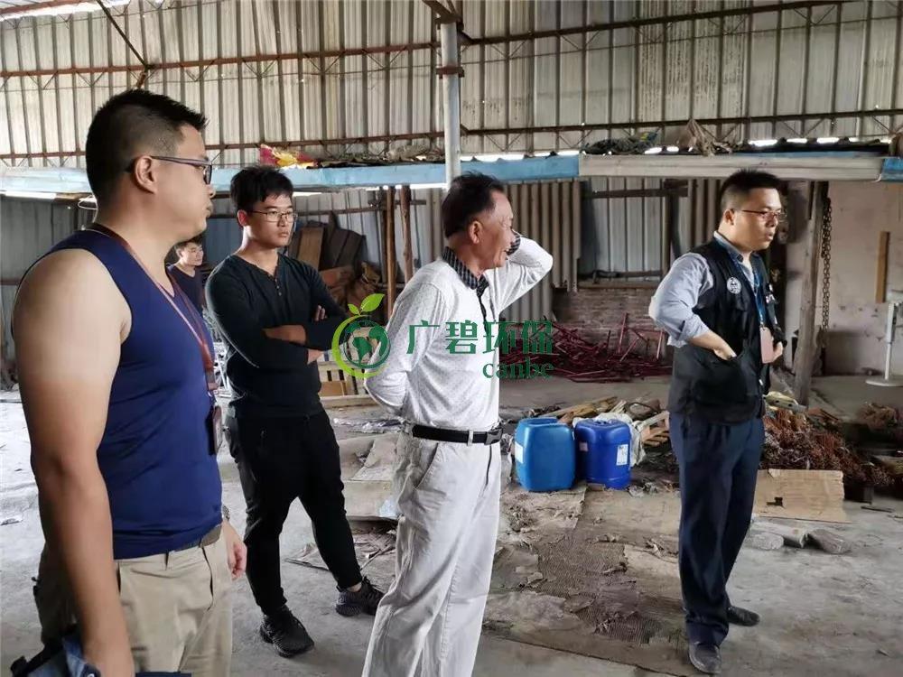 顺德容桂容边工业区两家无证酸洗五金厂被查处