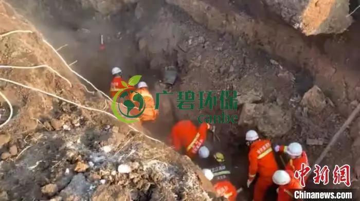 哈尔滨市一污水管网施工现场塌方